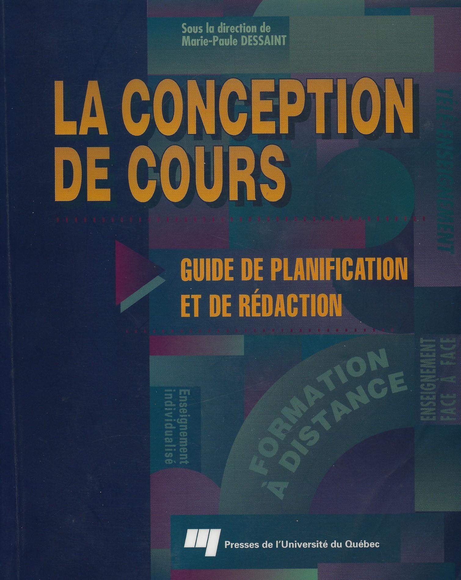 livre conception de cours